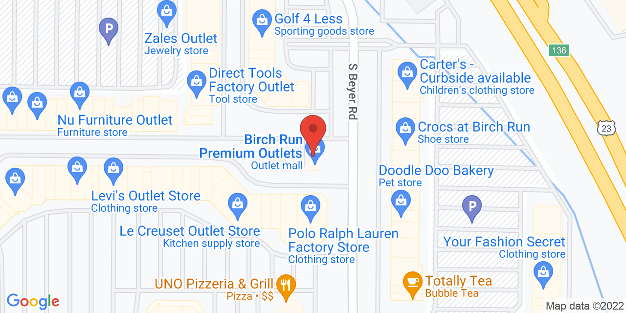 Van Heusen on Map