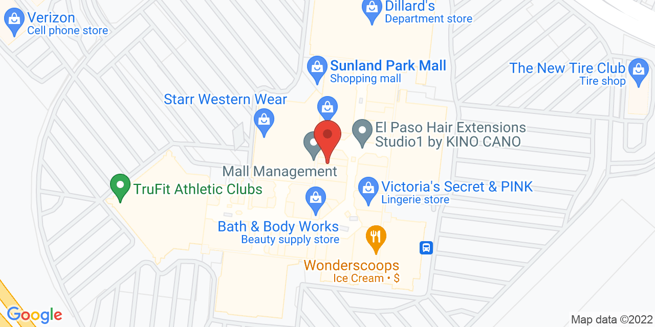 Dillard's North on Map