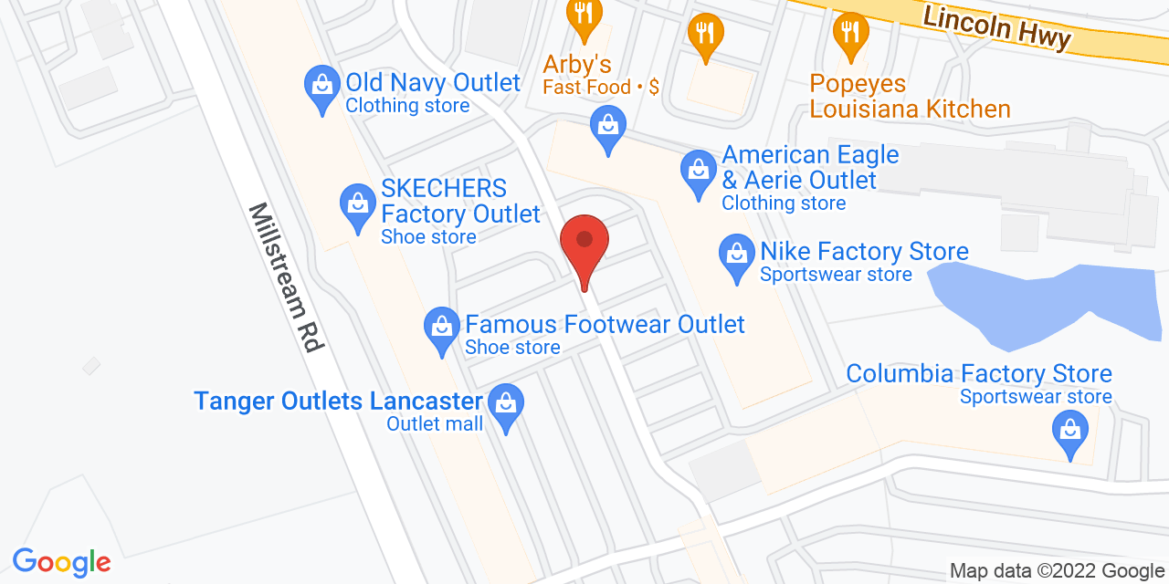 Timberland Factory Store on Map