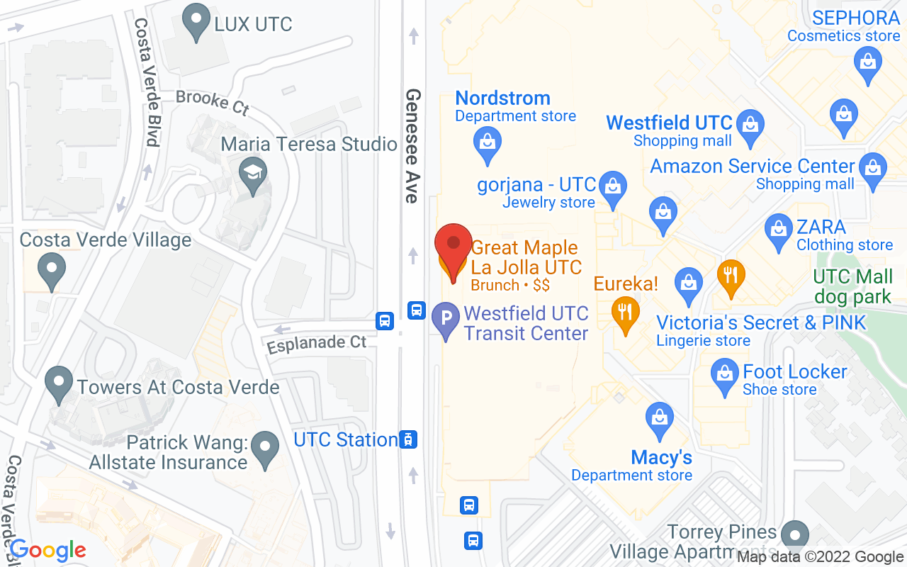 Drive to Great Maple UTC - La Jolla