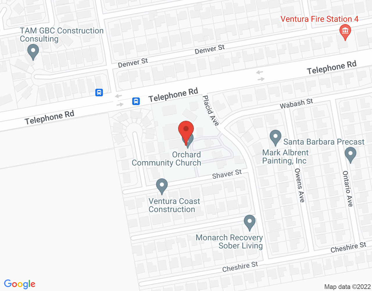 Get directions for Orchard Community Church