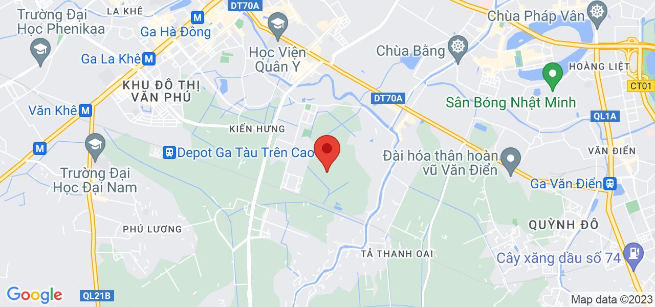 Địa chỉ Bán căn nhà 35m2, 4T, 3PN rộng 18m2, sân để xe 10m2, đường Tả Thanh Oai, KĐT Đại Thanh 0968669135
