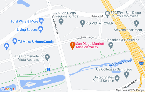 Google Map of San Diego Marriott Mission Valley
