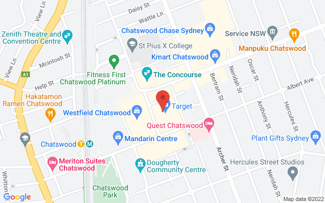 Google Map of Chatswood