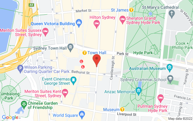 Google Map of Sydney City