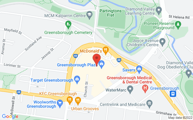 Google Map of Greensborough