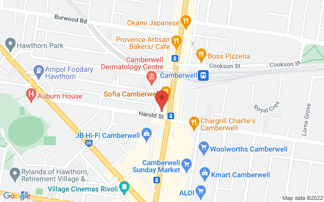 Google Map of Camberwell - Closed