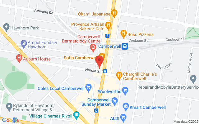 Google Map of Camberwell
