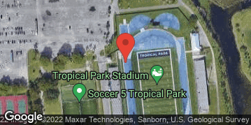 Locations for Sunday Men's Softball/Tropical Park (Winter 2021)