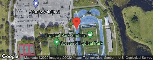Locations for Tuesday Coed Softball/Tropical Park (Spring 2020 TENTATIVE)