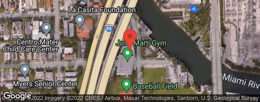 Locations for Thursday Coed Kickball/Jose Marti Park (Fall 2019)