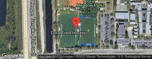 Locations for Wednesday OPEN Flag Football /Doral Meadow Park (Winter 2020)