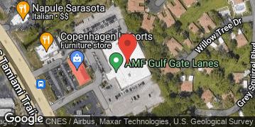 Locations for Tuesday Bowling / AMF Gulf Gate- (Winter 2021)