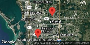 Locations for Wednesday Coed Kickball / Fruitville Park (Fall 2018)