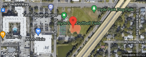 Locations for Sunday Coed Softball / Hyde Park (Winter 2020)