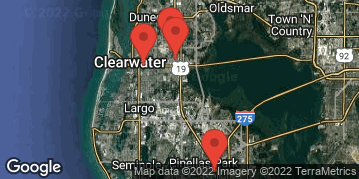 Locations for Thursday Coed Soccer / Clearwater (Winter 2021)