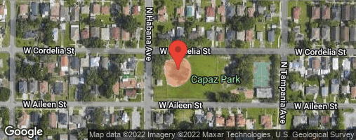 Locations for Tuesday Coed Kickball / Capaz (Winter 2020)