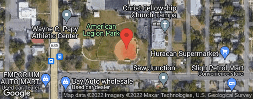 Locations for Friday Coed Social Kickball / Seminole Heights  (Winter 2020)