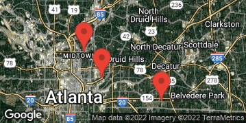 Locations for August 2021 - Ultimate Frisbee (Co-Ed) - Recreational - Old Fourth Ward - Tuesdays