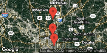 Locations for September 2019 Flag Football 7v7 (Co-Ed) - Multi Division - Piedmont Park - Saturday