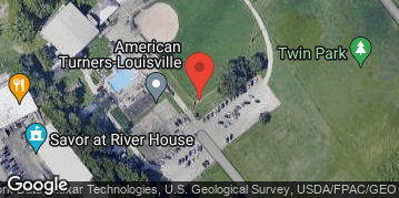 Locations for Wednesday Kickball @ Turner's Softball field on the River (Zorn Avenue/ River Road)