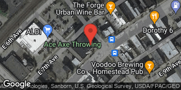 Locations for Spring '19 Axe Throwing - Mondays @ Ace Axe Throwing