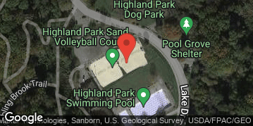 Locations for Summer '19 Sand Volleyball - Mondays @ Highland Park Sand Courts, 4v4 Recreational & Competitive