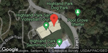 Locations for Spring 18 Thursday Coed Sand Volleyball @ Highland Park