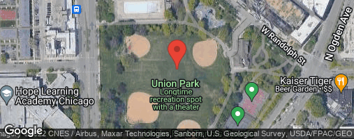 "Locations for Fall 2020 Tuesday Coed 12"" Rec @ Union Park"
