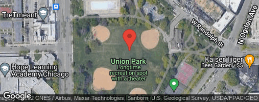 Locations for Fall 2020 Thursday Coed 10v10 Rec @ Union Park