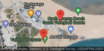 Locations for 8/10/19 Players Juniors Series #5 Volleyball Tournament @ North Avenue Beach