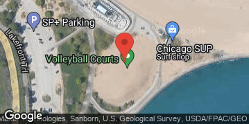 Locations for Late Summer 2019 Wednesday Coed 6's (Rec or B) @ North Avenue Beach LIT COURTS