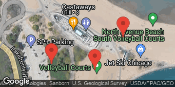 Locations for Late Summer 2021 Monday Coed 6's Rec @ North Avenue Beach