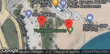 Locations for *QUICKIE LEAGUE* Early Summer 2019 Wednesday Women's 2's BB @ North Avenue Beach LIT COURTS