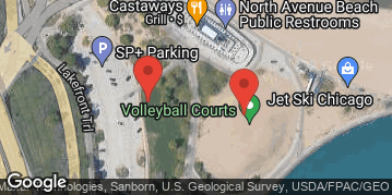 Locations for *QUICKIE LEAGUE* Early Summer 2019 Thursday Coed 6's (Rec or B) @ North Avenue Beach LIT COURTS