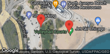Locations for Summer 2019 Wednesday Volleyball Skills Clinics @ North Avenue Beach LIT COURTS