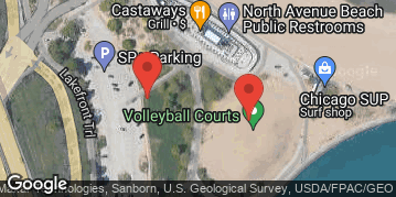 Locations for Summer 2019 Tuesday Volleyball Skills Clinics @ North Avenue Beach LIT COURTS *JOIN FOR PRO-RATED PRICE!*