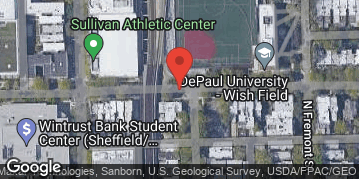 "Locations for Summer 2019 Wednesday Coed 16"" Rec @ DePaul's Wish Turf Field"