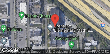Locations for Late Summer 2019 Monday Coed 6v6 Rec @ Brentano Turf Field
