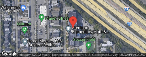 Locations for Fall 2020 Wednesday Coed 6v6 Rec @ Brentano Turf Field