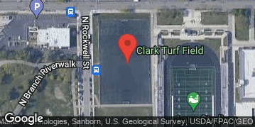 Locations for Summer 2021 Thursday Men's 7v7 (Rec or B) @ Clark Park Turf Field (Addison & Rockwell)