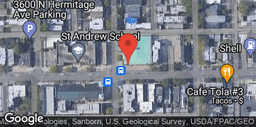 Locations for Fall 2019 Tuesday Coed 4's (A or B) @ St. Andrew Gym in Wrigleyville