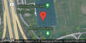 Locations for Fall 2019 Tuesday Men's 11v11 BB @ Montrose Turf Field *NEW TURF*