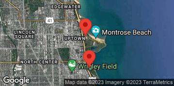 "Locations for Summer 2020 Wednesday Men's 12"" B @ Waveland & Margate Fields along the Lakefront"