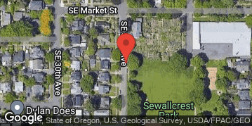 Locations for Fall Softcore Kickball at Sewallcrest Park Sundays