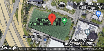 Locations for Winter Co-ed Kickball at Portland State Sunday