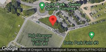 Locations for Winter Co-ed 6v6 Flag Football at Delta Park Sundays