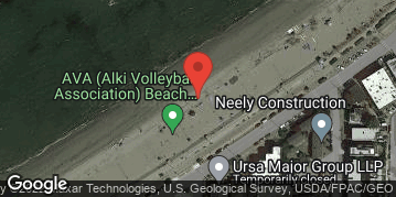 Locations for Late Summer Co-ed Beach Volleyball at Alki Wednesdays
