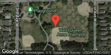 Locations for Summer Co-ed Softball at Queen Anne Sundays