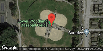 Locations for 5 on 5 Kickball at Lower Woodlands Thursdays